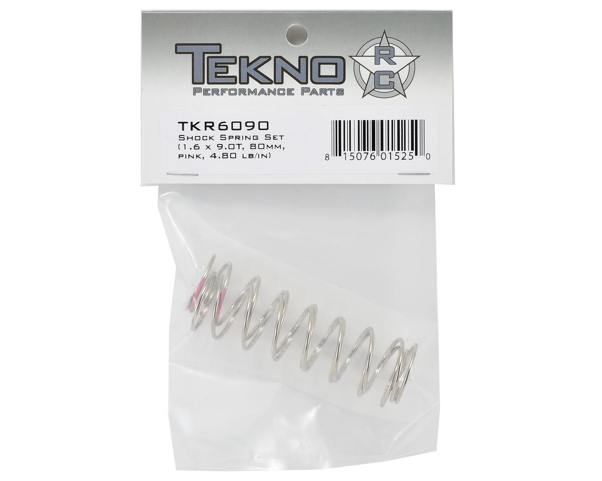 Tekno RC 80mm Front Shock Spring Set (Pink) (1.6 x 9.0T) (2)