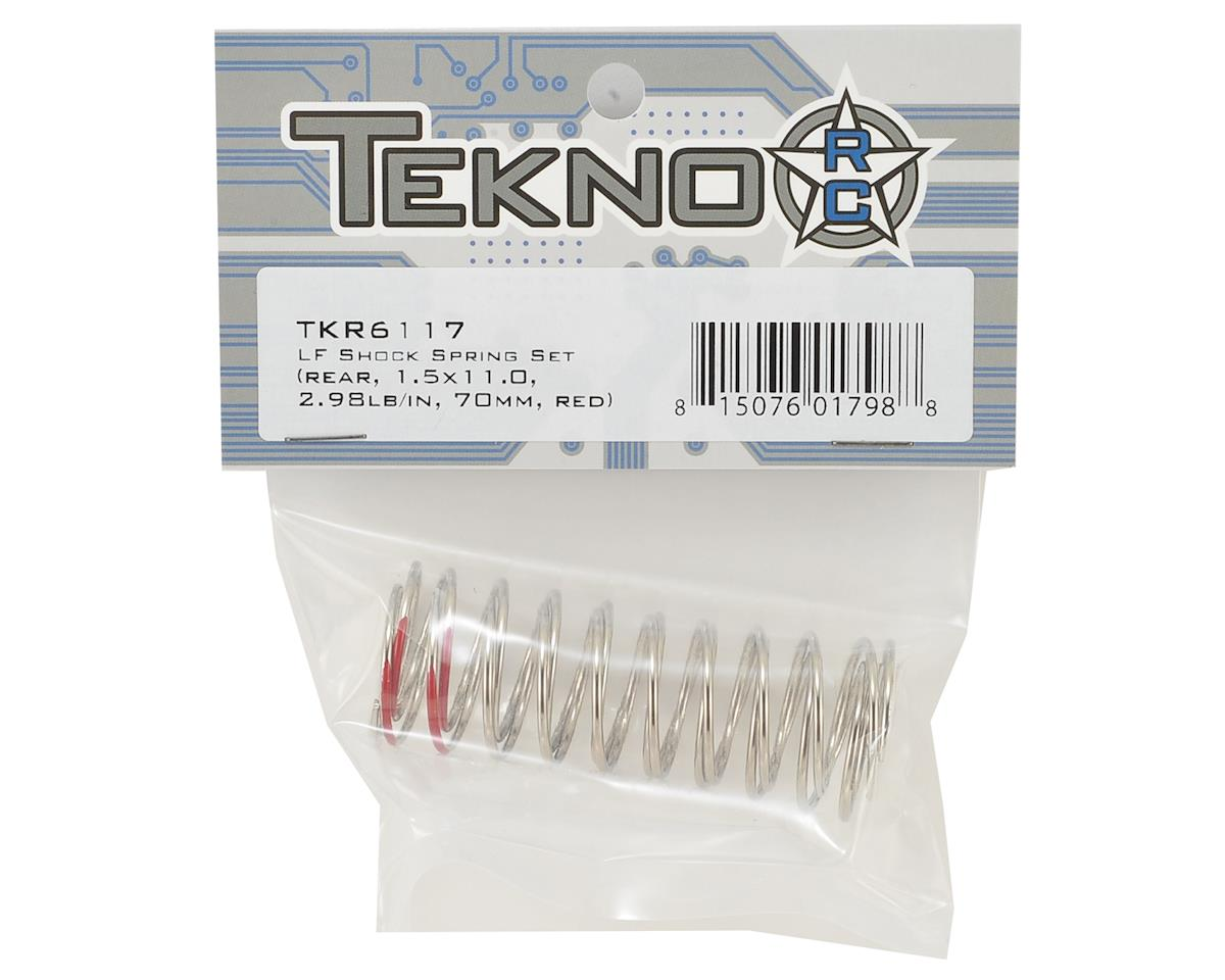 Tekno RC Low Frequency 70mm Rear Shock Spring Set (Red - 2.98lb/in)