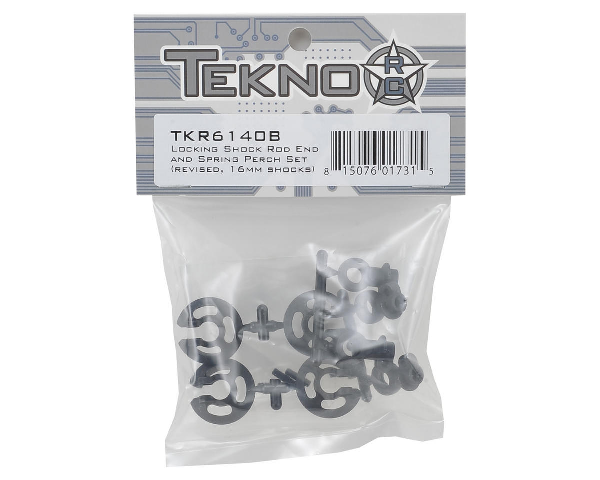 Locking Shock Rod End & Spring Perch Set (Revised, 16mm Shocks) by Tekno RC