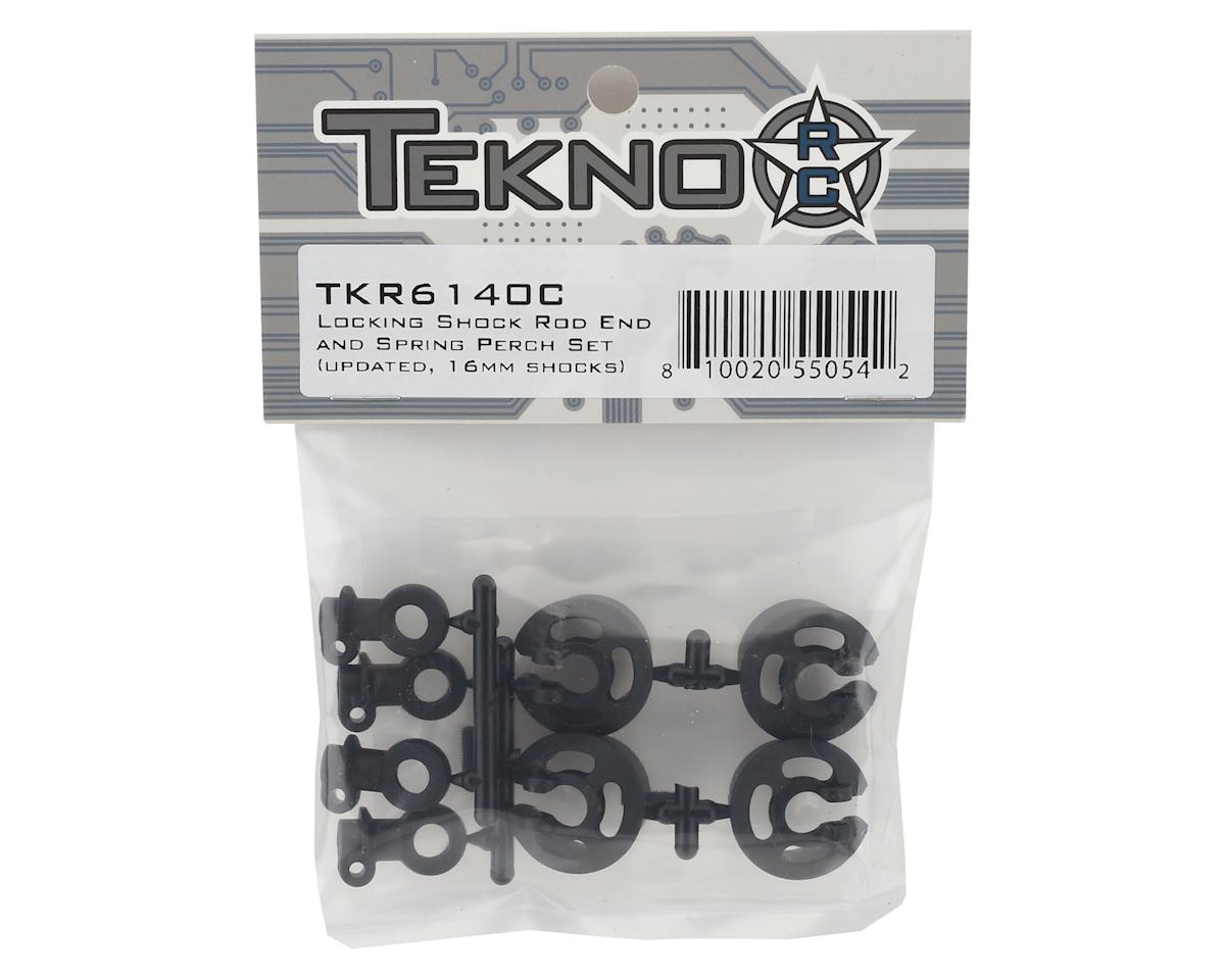 Tekno RC Large Radius Locking Shock Rod End & Spring Perch Set