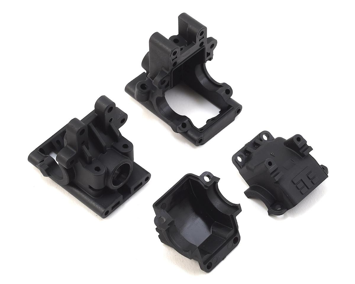 EB410 Front & Rear Bulkhead Set (Revised) by Tekno RC