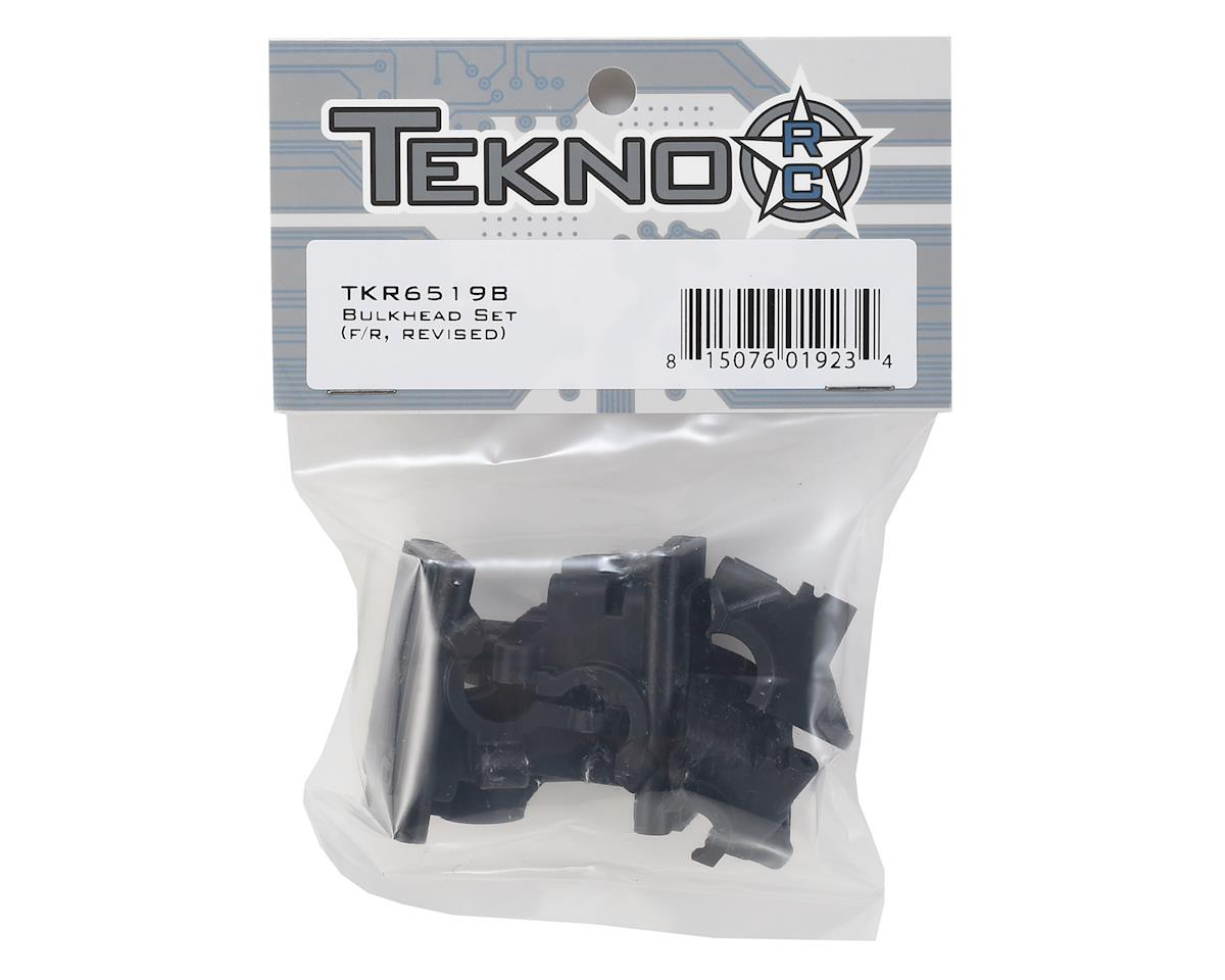 Tekno RC EB410/ET410 Front & Rear Bulkhead Set (Revised)