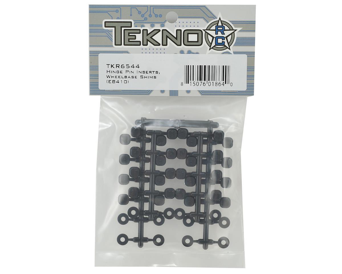 Tekno RC EB410/ET410 Wheelbase Shims & Hinge Pin Inserts