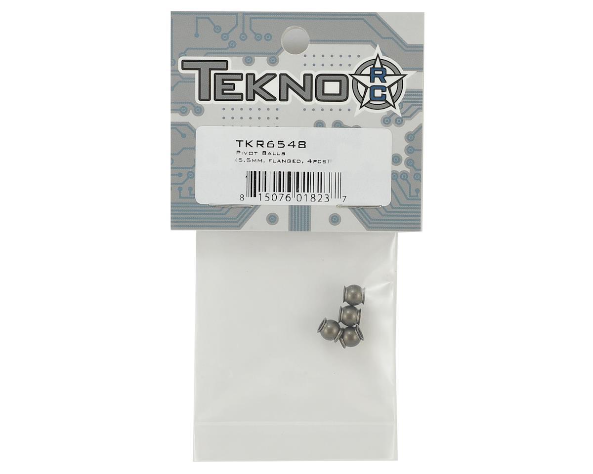 Tekno RC EB410 5.5mm Flanged Pivot Balls (4)