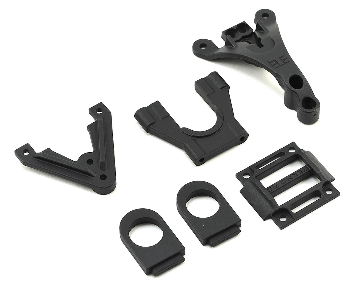 EB410 Center Differential Support & Top Braces by Tekno RC