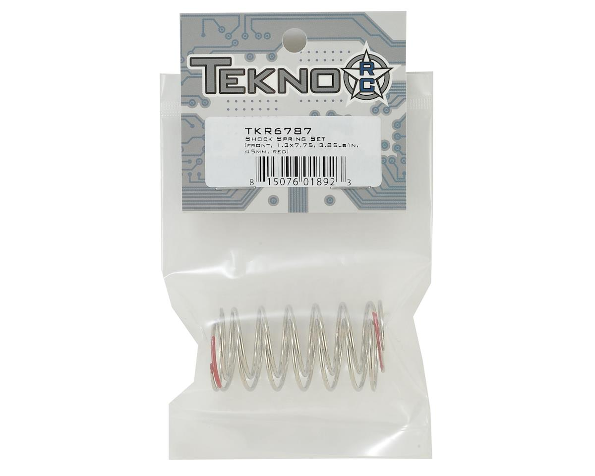 Tekno RC 45mm Front Shock Spring Set (Red - 3.85lb/in) (1.3x7.75)