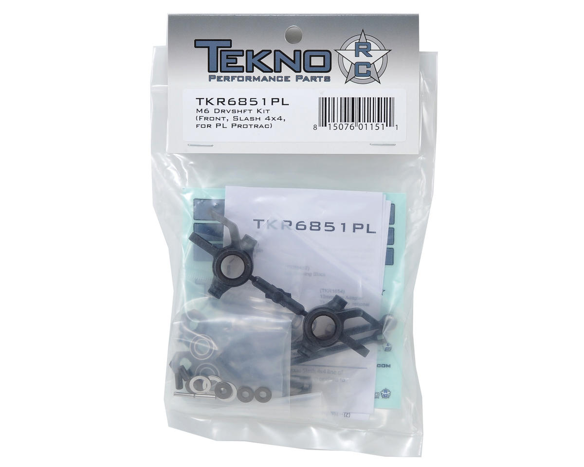 Tekno RC M6 Pro-Line ProTrac Driveshaft & Steering Block Set (Front, 6mm)