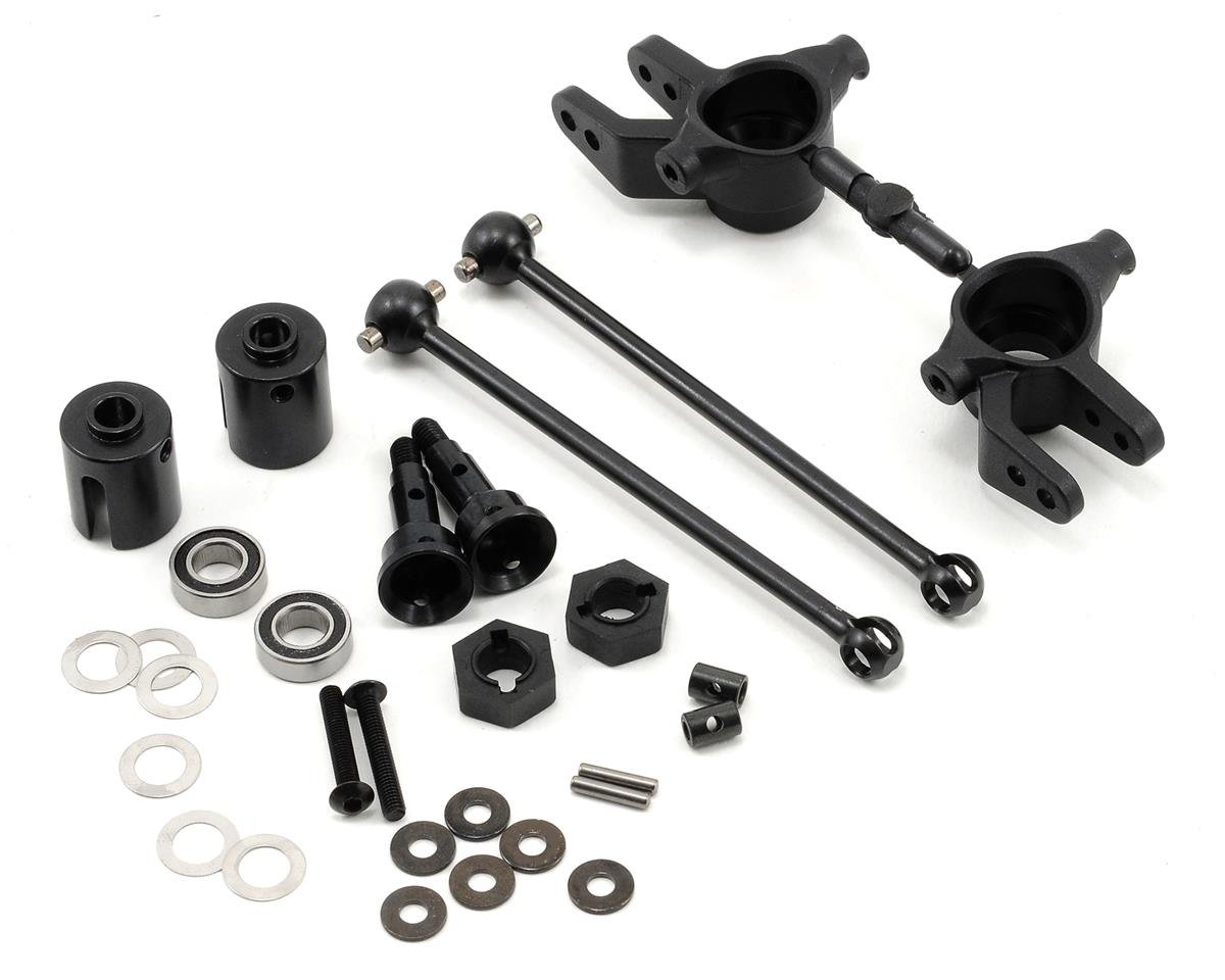 Tekno RC M6 Driveshaft & Steering Block Set (Front, 6mm) (Traxxas Stampede 4x4)