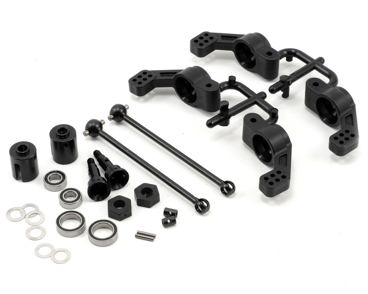 Tekno RC M6 Driveshaft & Hub Carrier Set (Rear, 6mm) (Traxxas Slash 4x4)