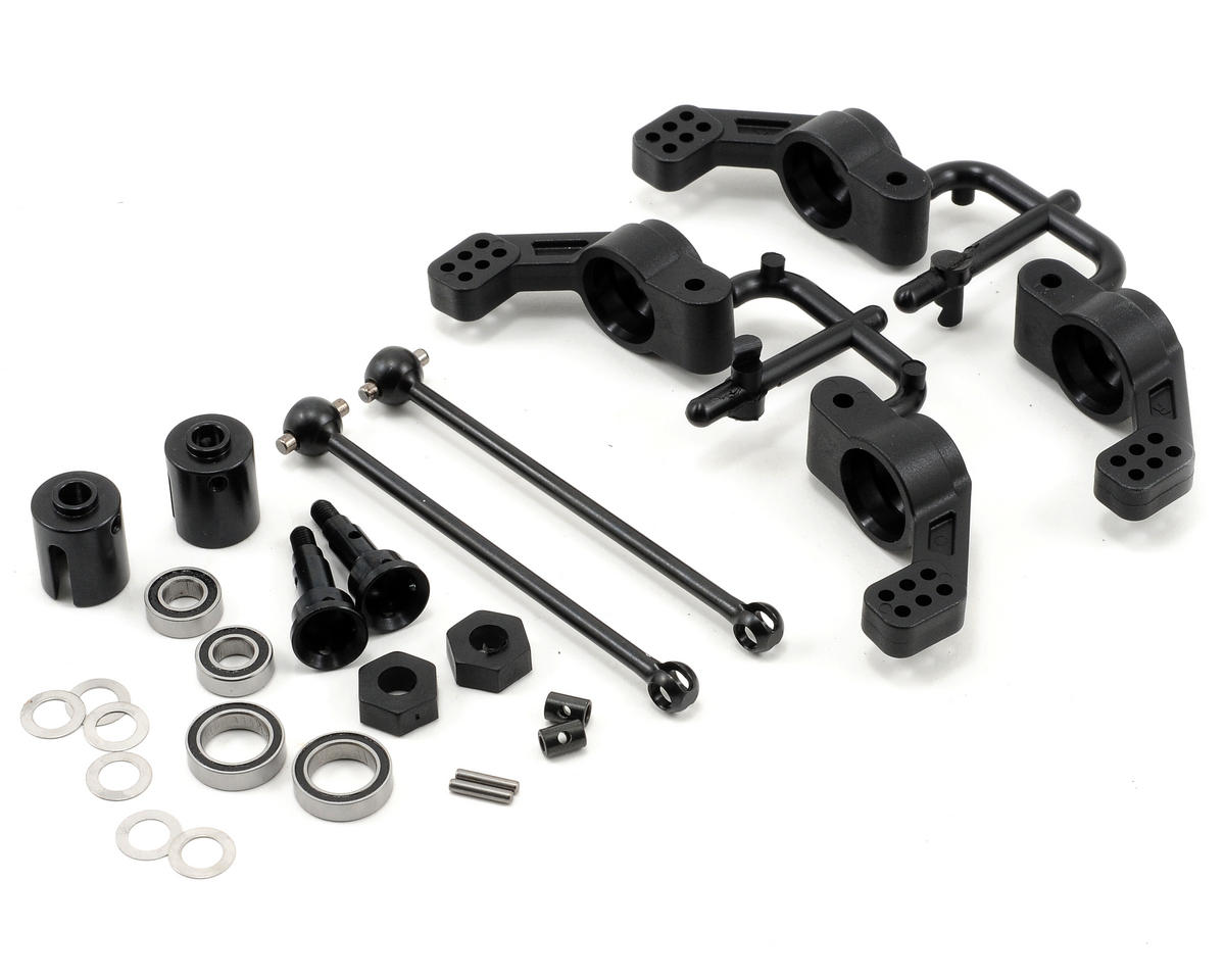Tekno RC M6 Driveshaft & Hub Carrier Set (Rear, 6mm) (Traxxas Stampede 4x4)