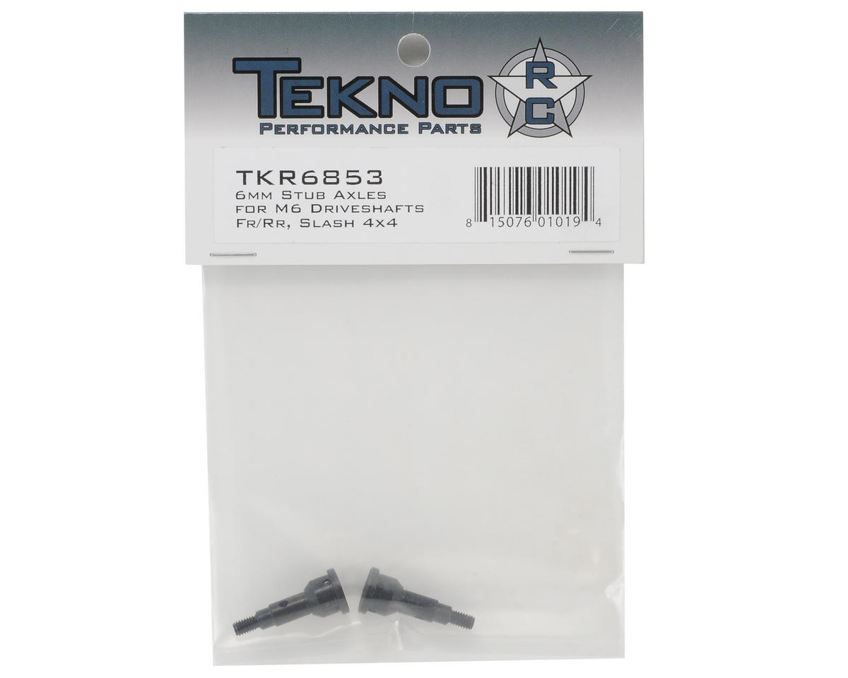 Tekno RC M6 Driveshaft 6mm Stub Axle Set (2) (Front/Rear)