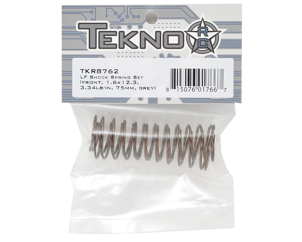 Tekno RC Low Frequency 75mm Front Shock Spring Set (Grey - 3.34lb/in)