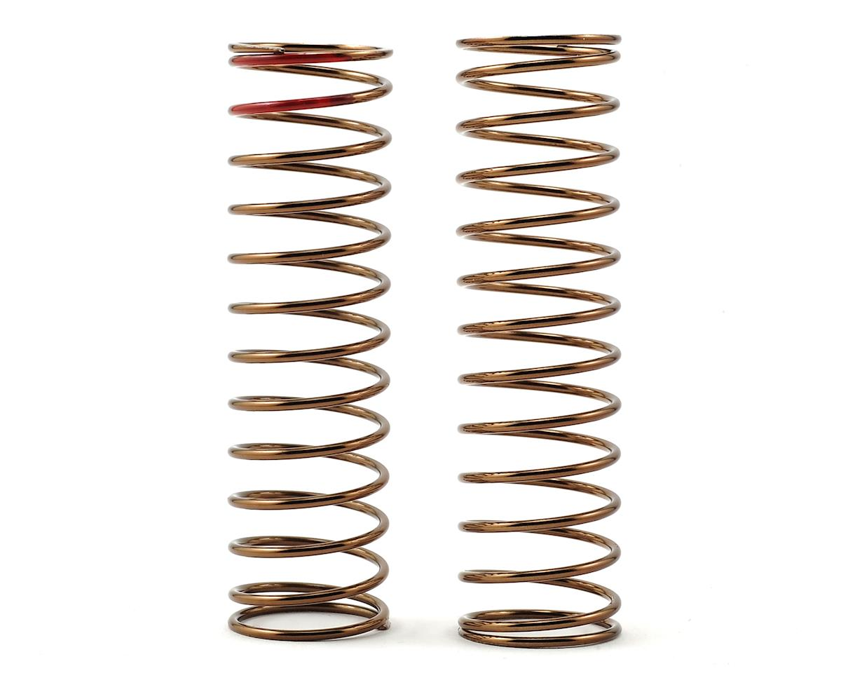 Low Frequency 85mm Rear Shock Spring Set (Red - 2.94lb/in) by Tekno RC