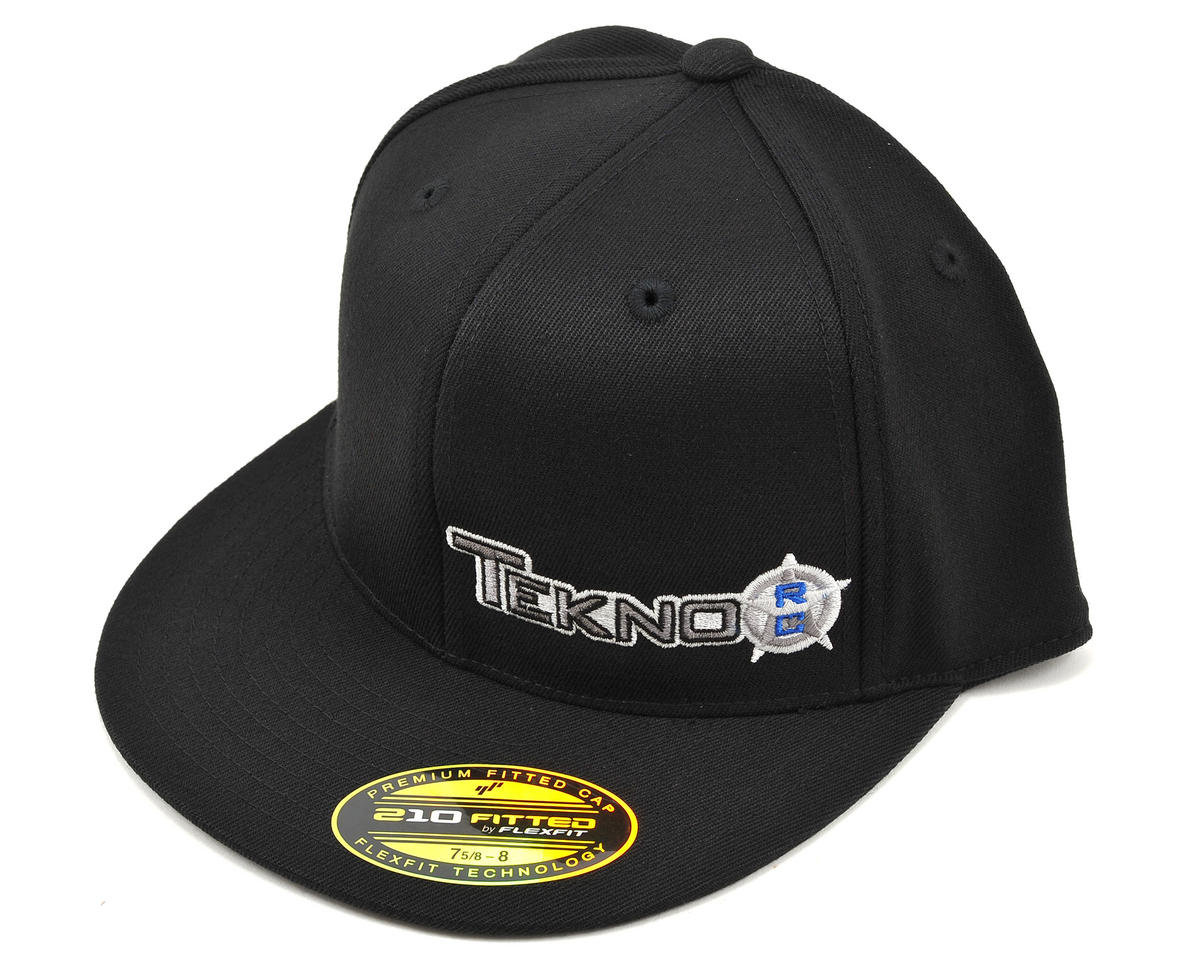"Tekno RC ""Flat Bill"" FlexFit Cap (Black) (XL/XXL)"