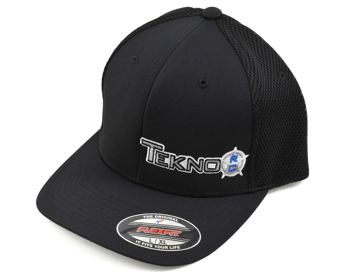 Tekno RC Round Bill FlexFit Mesh Back Cap (Black) (L/XL)