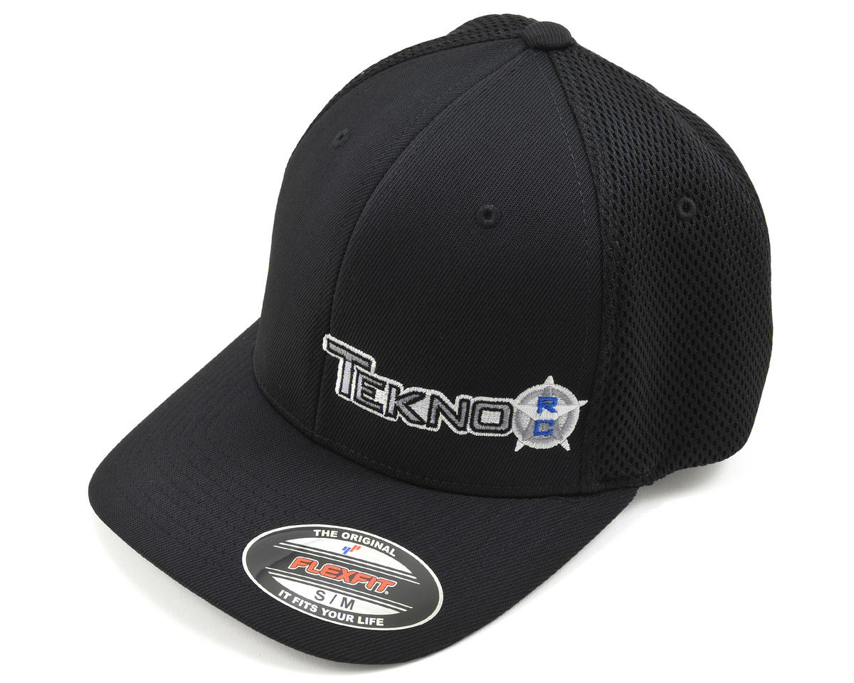 Tekno RC Round Bill FlexFit Mesh Back Cap (Black) (S/M)