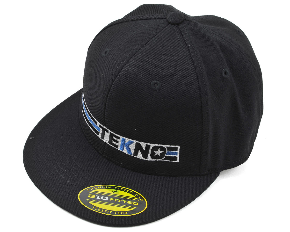 "Tekno RC Stripe ""Flat Bill"" FlexFit Cap (Black) (L)"