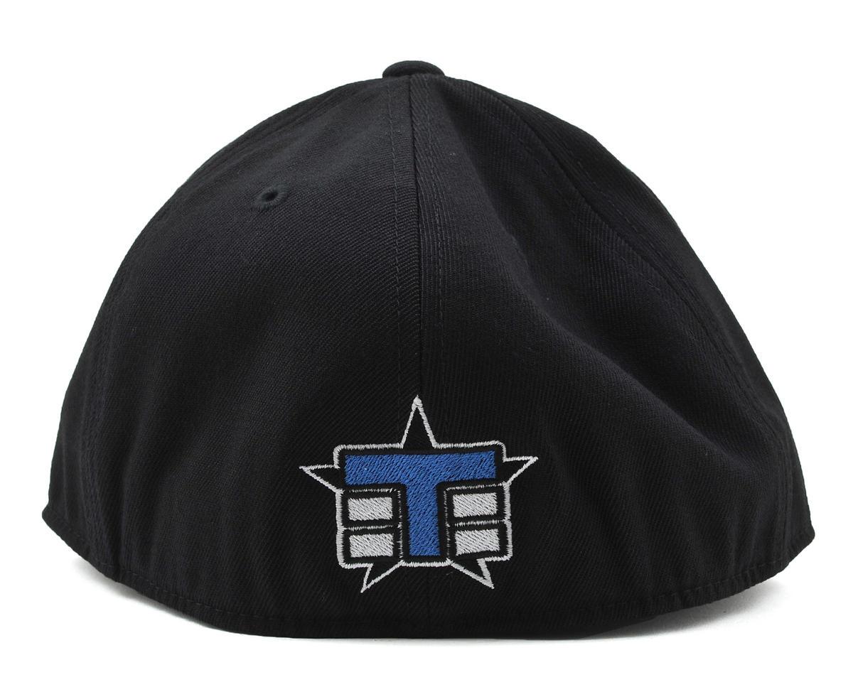 """Tekno RC Stripe """"Flat Bill"""" FlexFit Cap (Black) (M)"""
