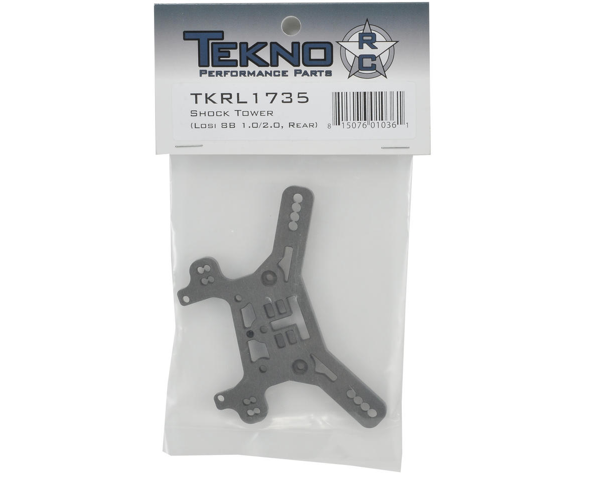 Tekno RC 5mm Losi 8B Rear Shock Tower (Hard Anodized)