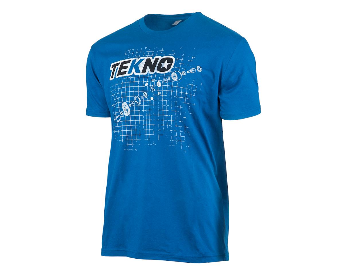 Tekno RC Diff Blueprint T-Shirt (Dark Blue) (L)