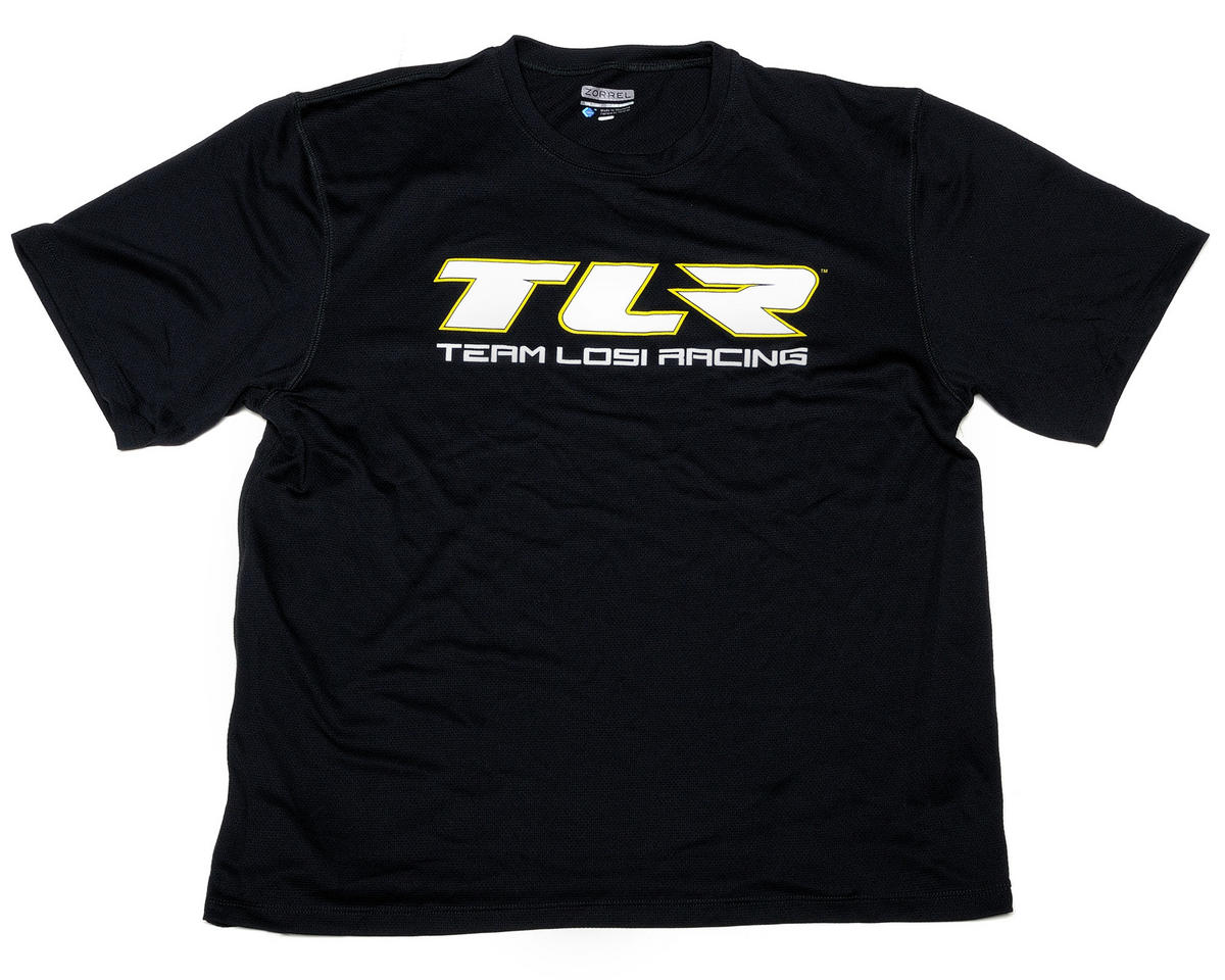 """TLR"" Moisture Wicking Shirt (Black) (S) by Team Losi Racing"