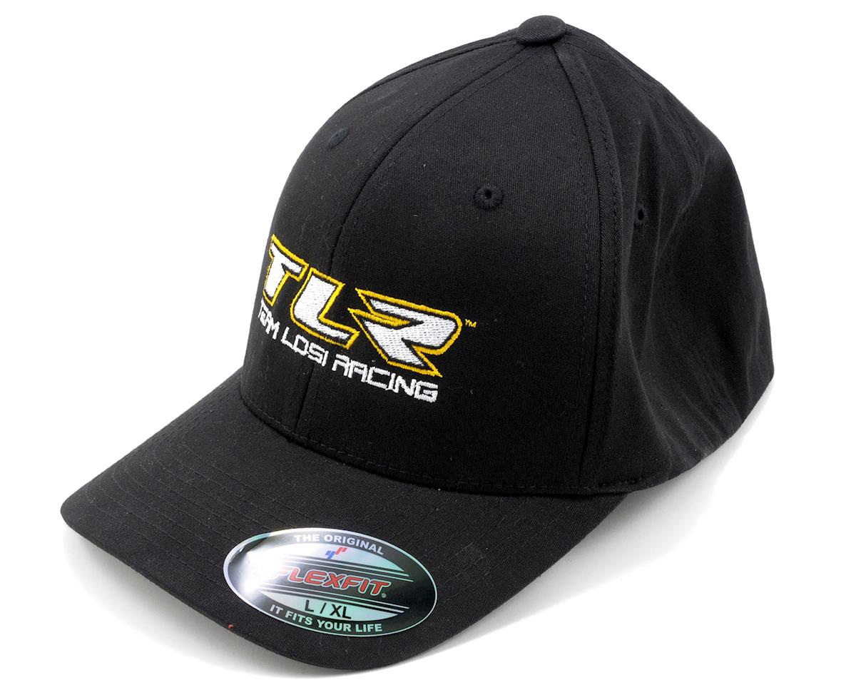 """TLR"" Flex-Fit Hat (Black) by Team Losi Racing"