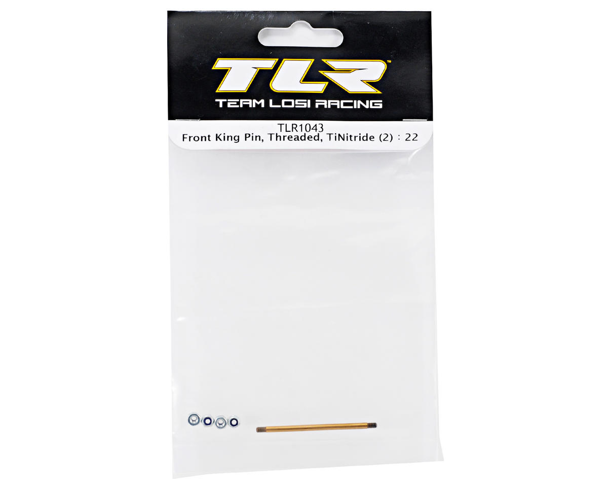 Team Losi Racing Ti-Nitride Threaded Front King Pin Set (2)