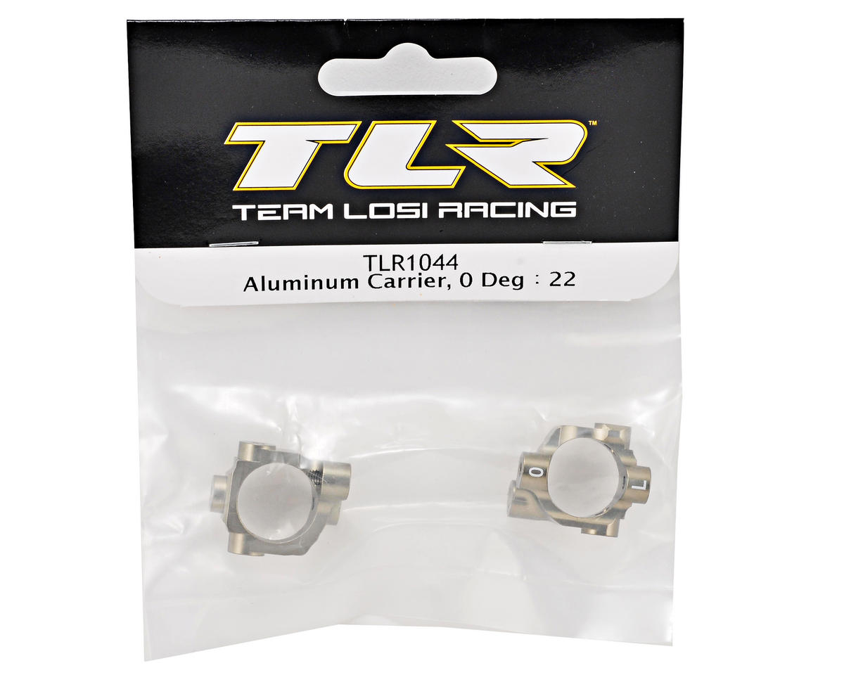 Team Losi Racing 0° Aluminum Hub Carrier Set (TLR 22)