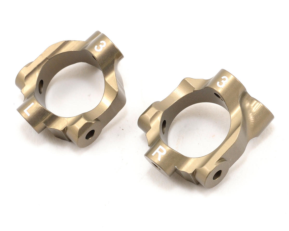 Team Losi Racing 3° Aluminum Hub Carrier Set (TLR 22)