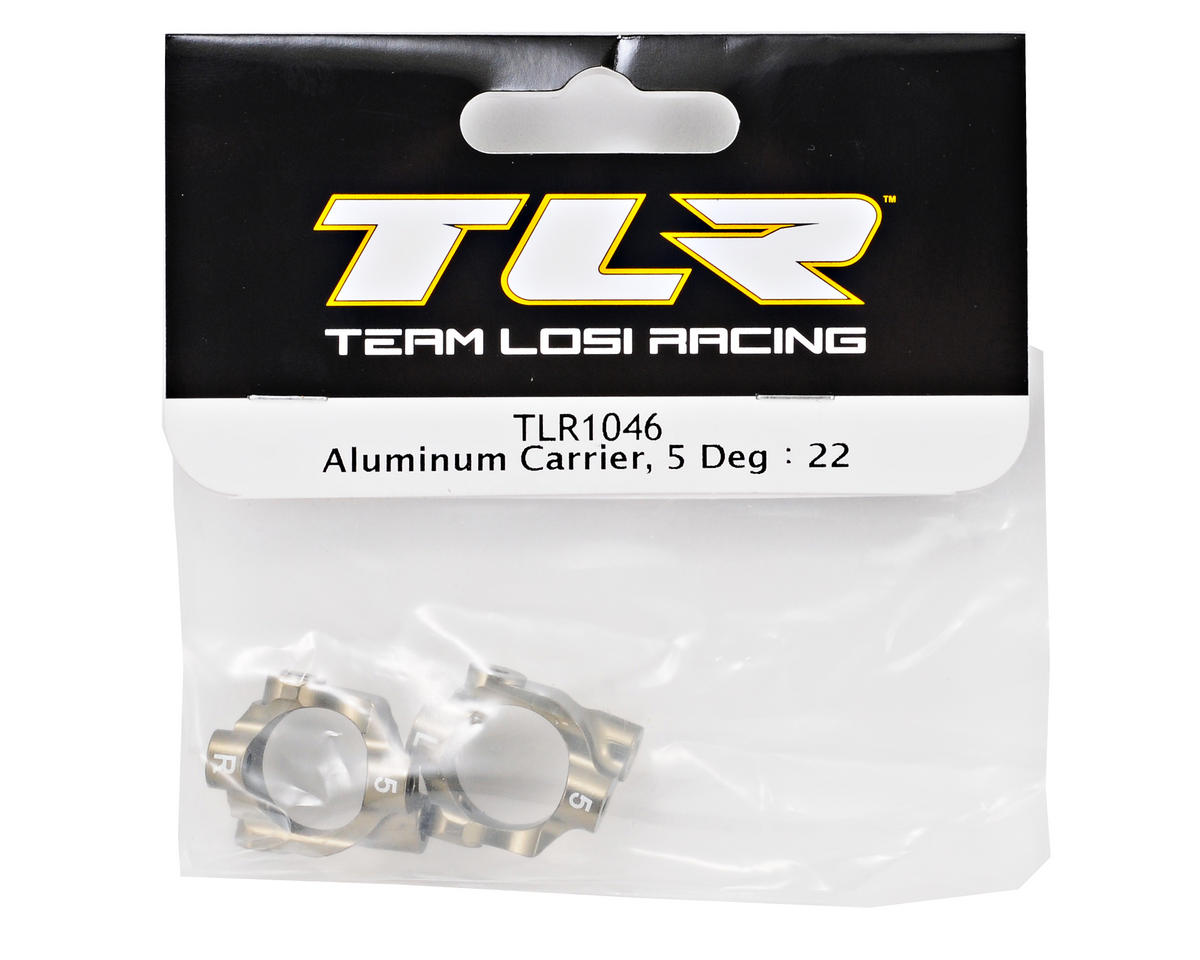 Team Losi Racing 5° Aluminum Hub Carrier Set (TLR 22)