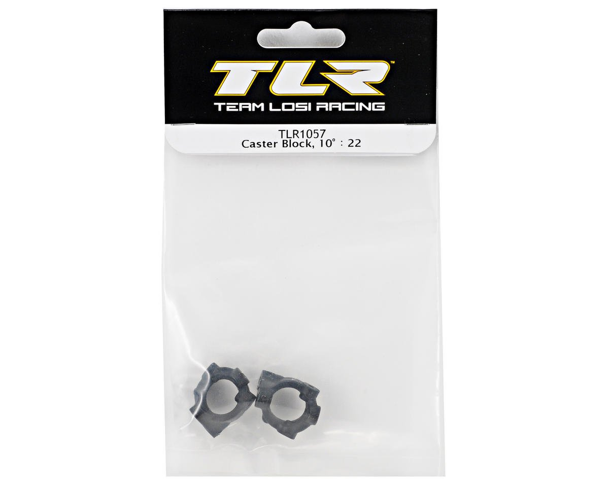 Team Losi Racing 10° Caster Block Set (TLR 22)