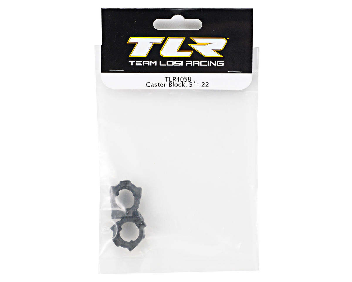 Team Losi Racing 5° Caster Block Set (TLR 22)