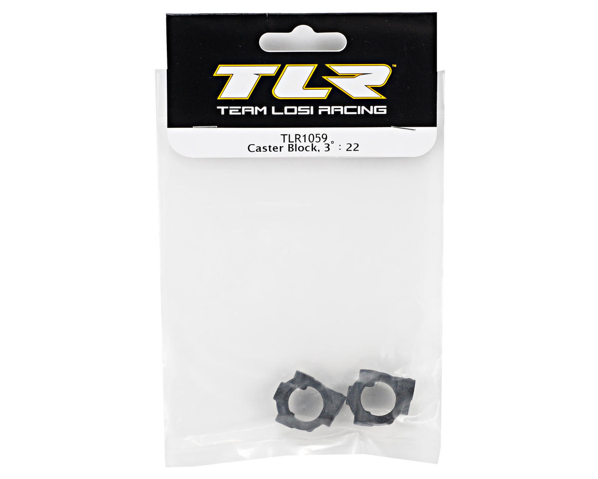 Team Losi Racing 3° Caster Block Set (TLR 22)