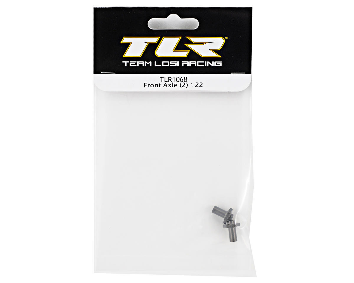 Team Losi Racing 10mm Hex Front Axle Set (2) (TLR 22)