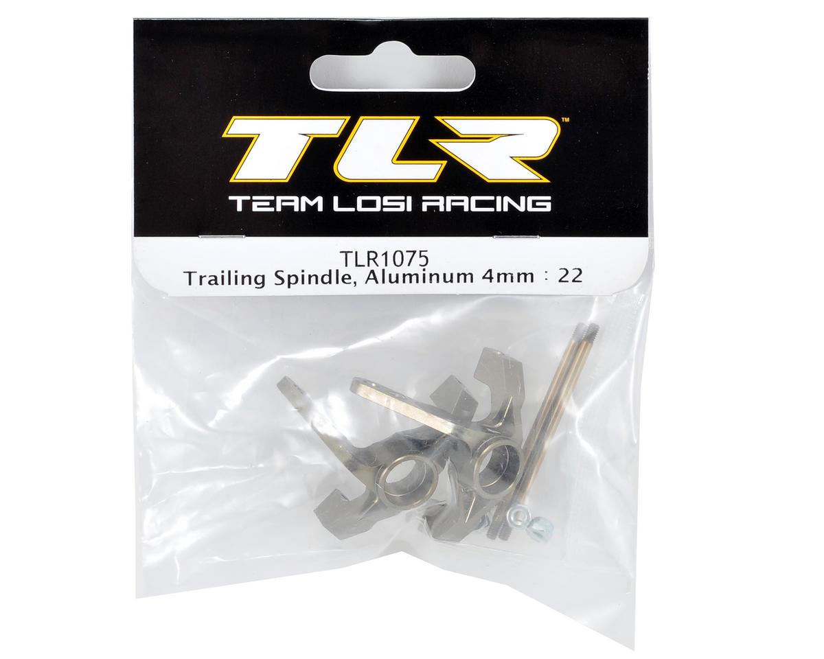 Team Losi Racing 4mm Aluminum Trailing Spindle Set