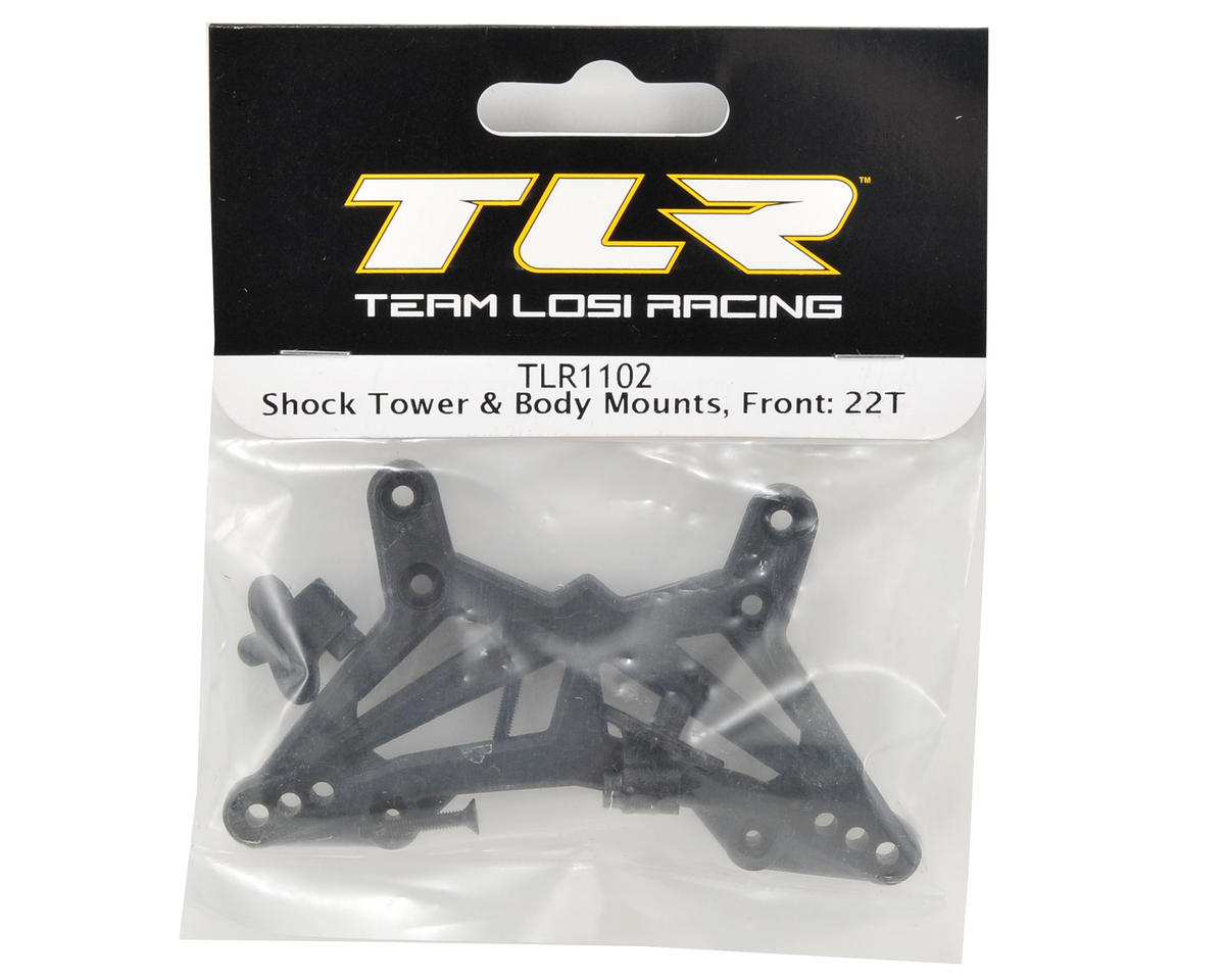 Team Losi Racing Front Shock Tower & Body Mount Set