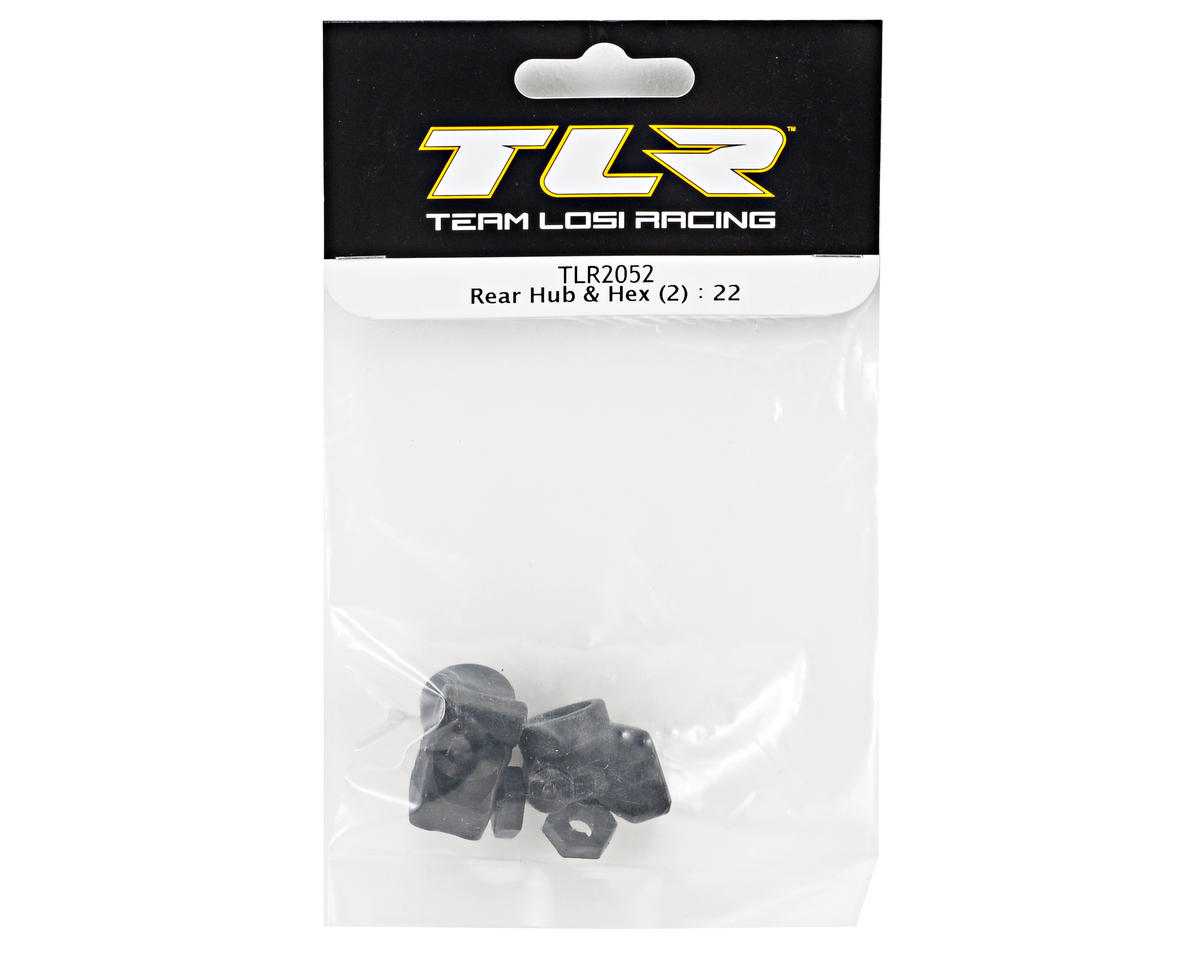 Team Losi Racing Rear Hub & Hex Set (2) (TLR 22)