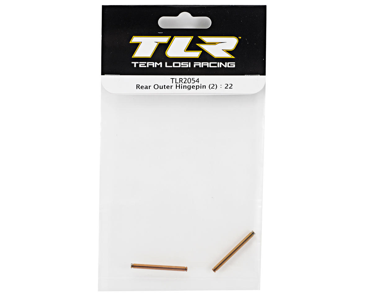Team Losi Racing Rear Outer Hinge Pin Set (2) (TLR 22)