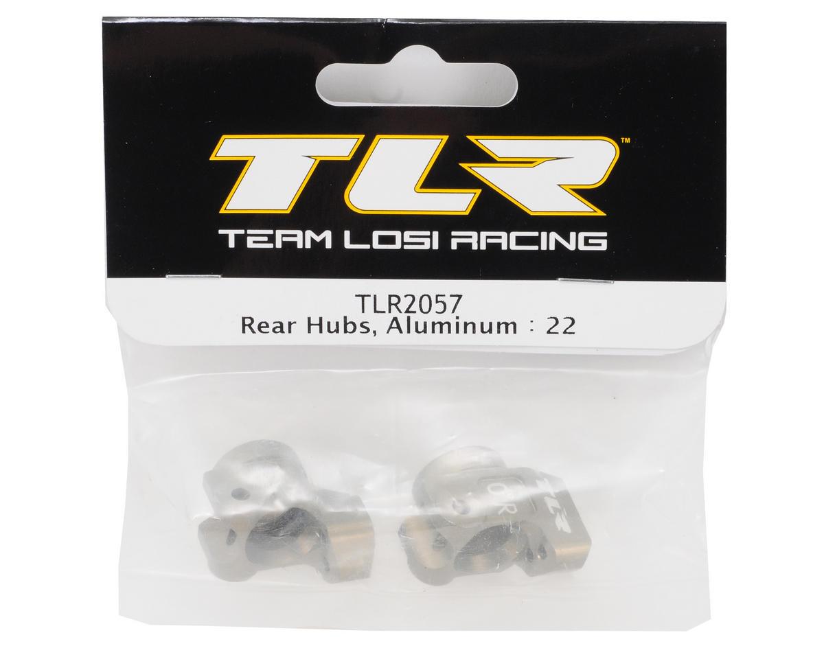 Team Losi Racing Aluminum Rear Hub Set (TLR 22)