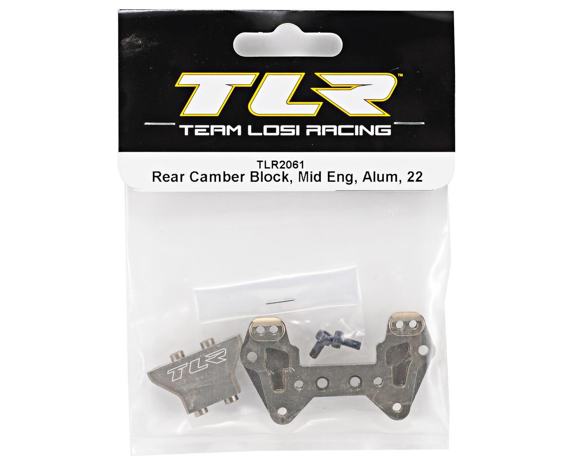 Team Losi Racing Aluminum Mid Motor Rear Camber Block