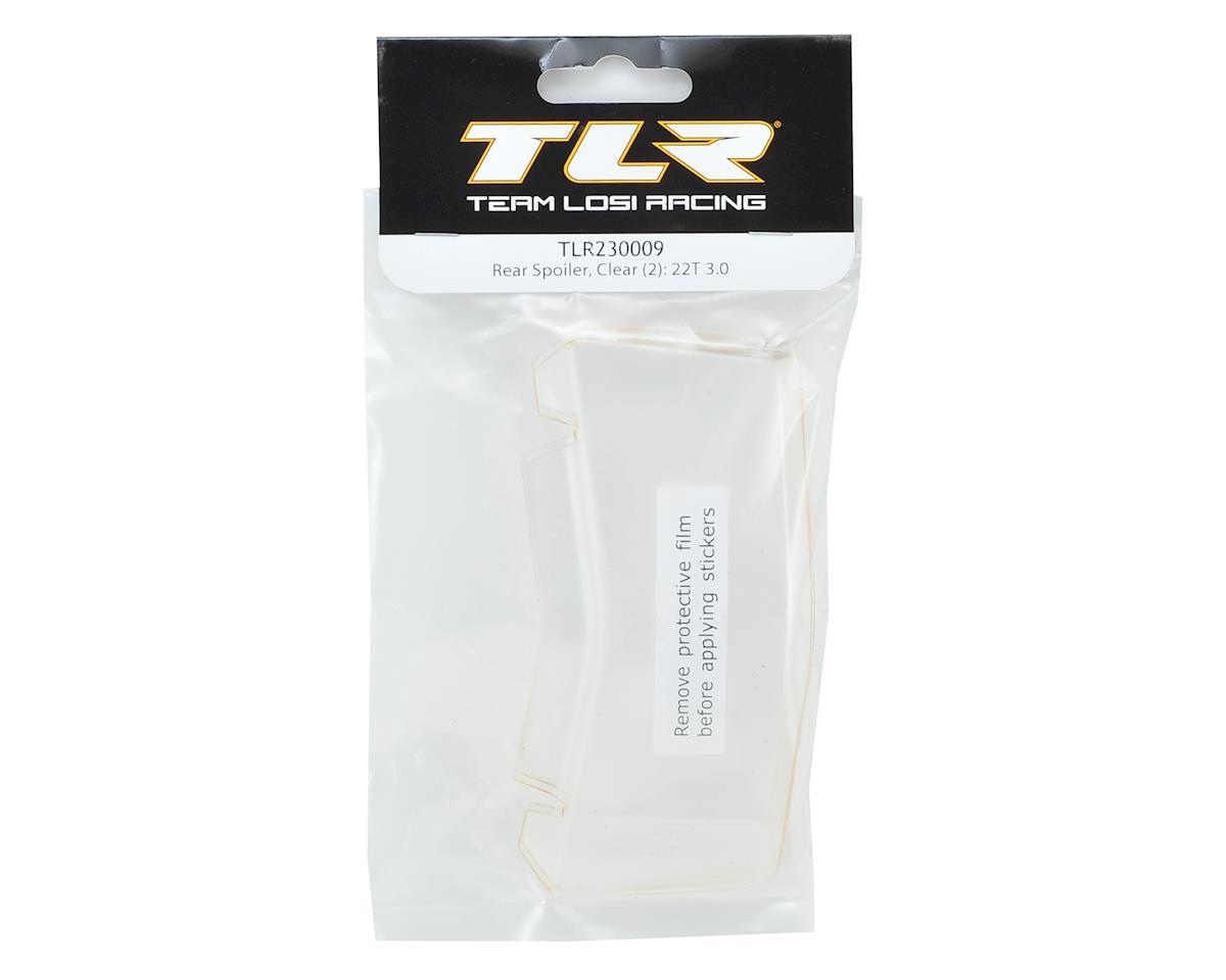 Team Losi Racing 22T 3.0 Rear Lexan Stadium Truck Spoiler (2) (Clear)
