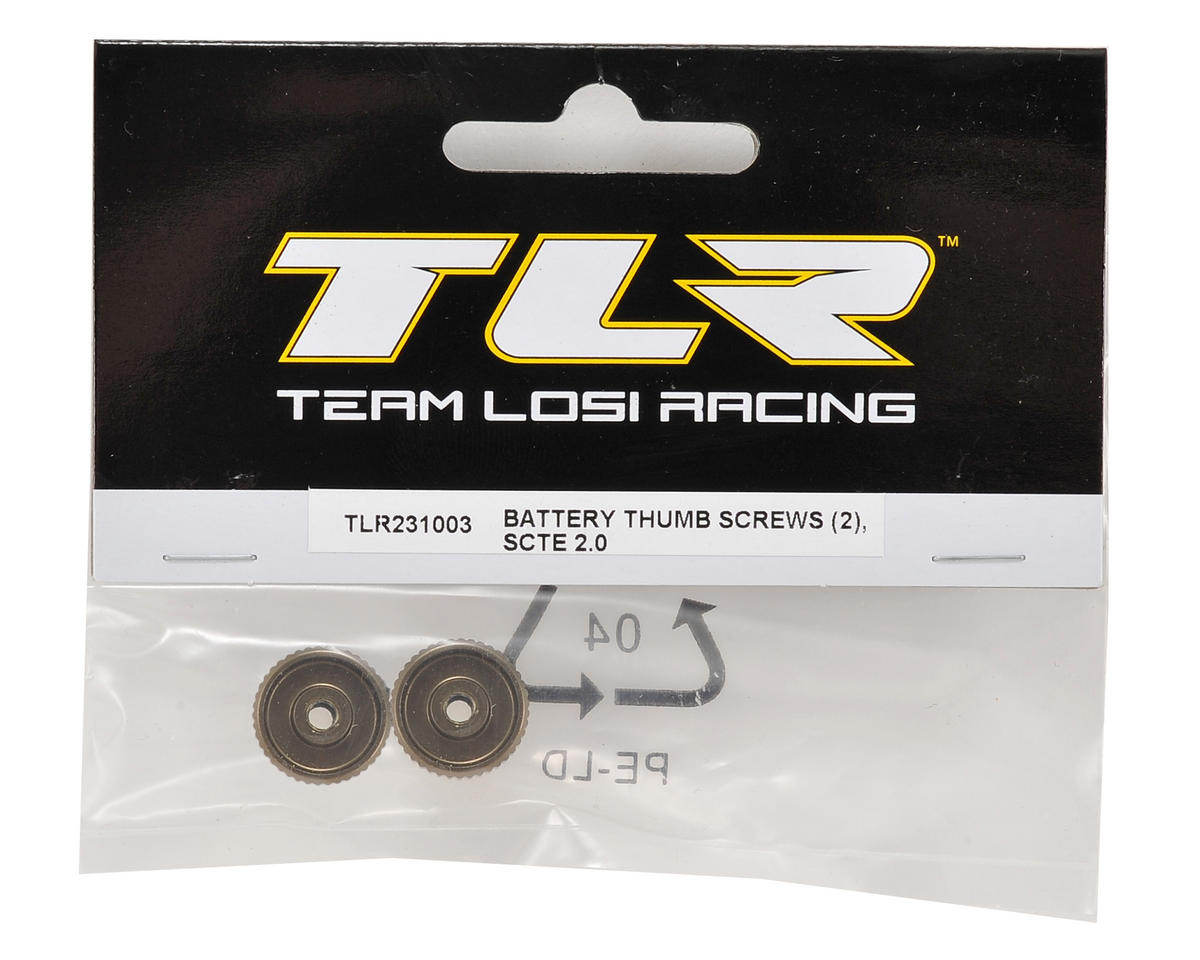 Team Losi Racing Battery Thumb Screw (2)