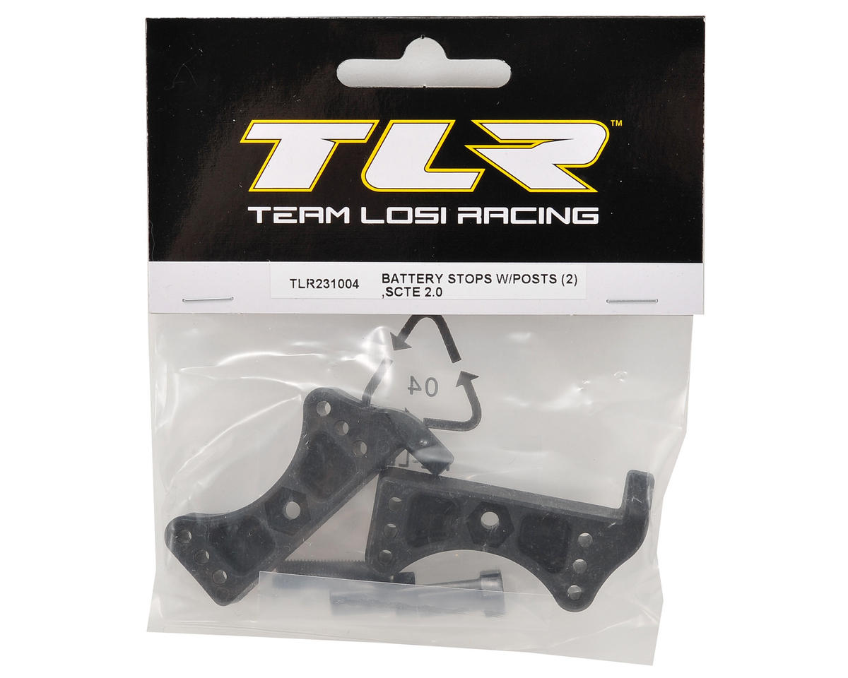 Battery Stop Set w/Posts (2) by Team Losi Racing