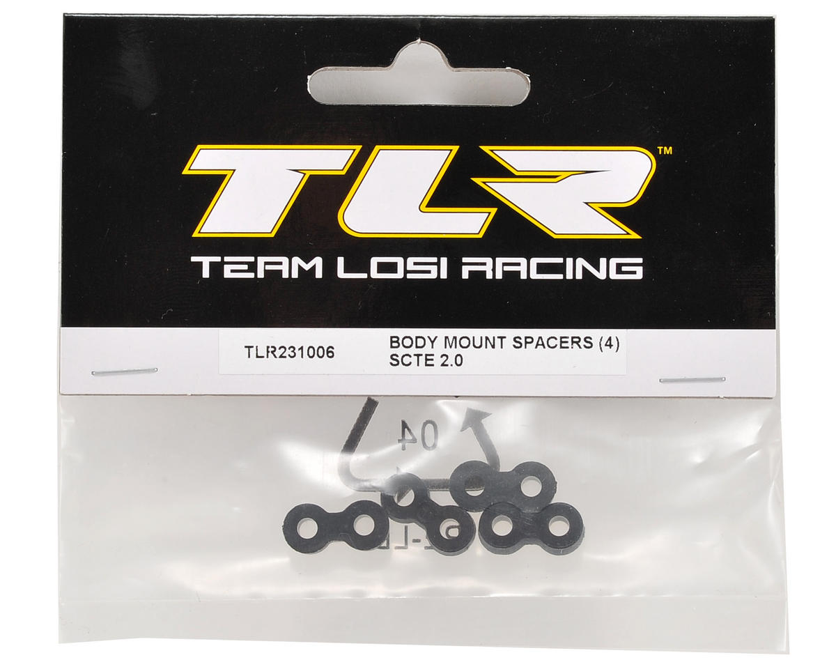 Team Losi Racing Body Mount Spacer (4)