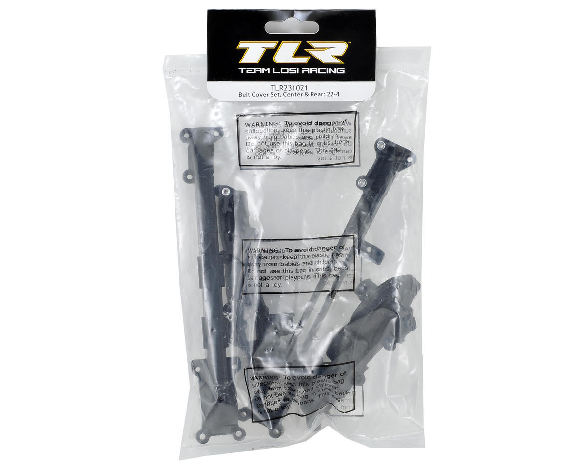 22-4 Center & Rear Belt Cover Set by Team Losi Racing