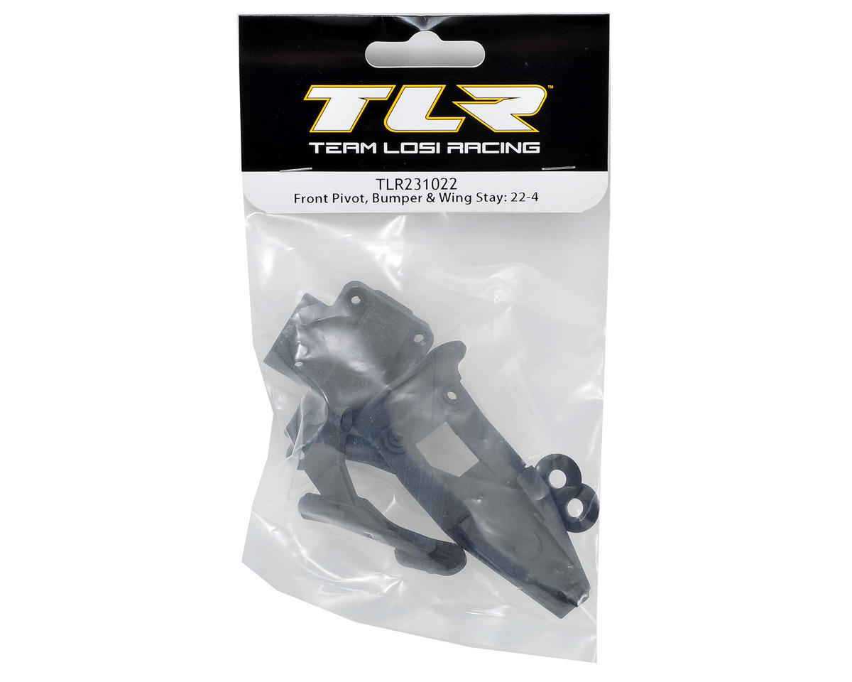 Team Losi Racing 22-4 Front Pivot, Bumper & Wing Stay Set