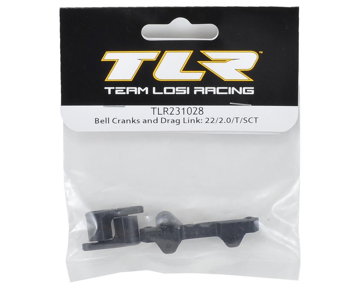 Team Losi Racing Bell Crank & Drag Link Set (22/2.0/T/SCT)