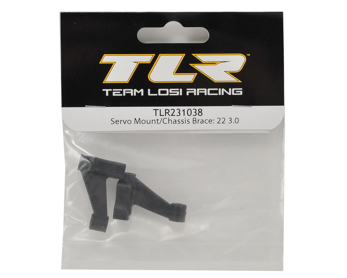 Team Losi Racing 22 3.0 Servo Mount & Chassis Brace