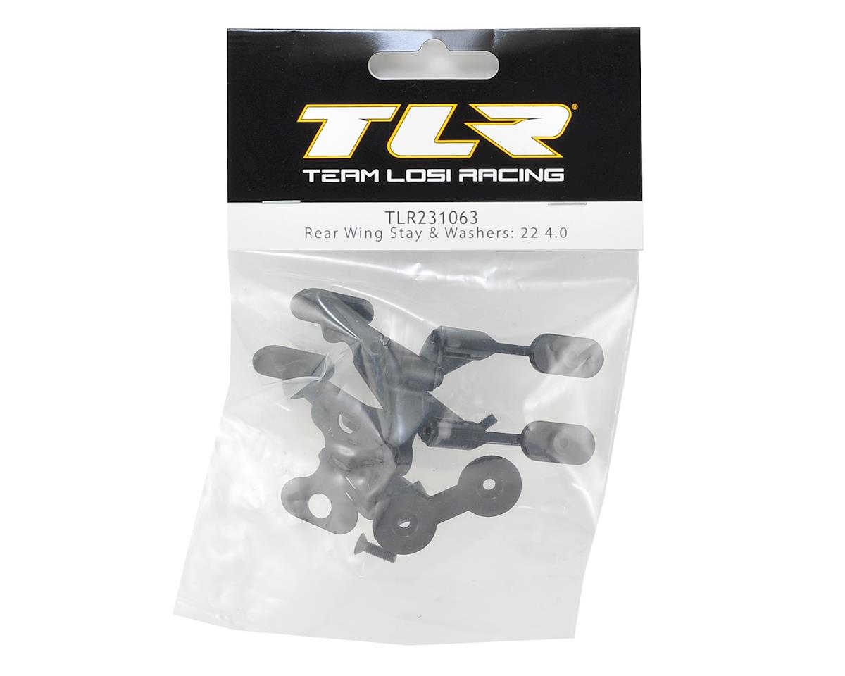 Team Losi Racing 22 4.0 Rear Wing Stay & Washers