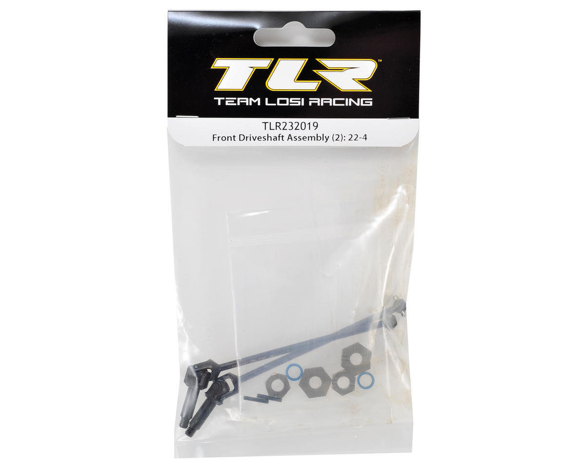 22-4 Front Driveshaft Assembly (2) by Team Losi Racing